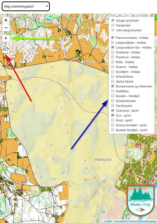 o kart på nett Kart på nett – Modum orientering